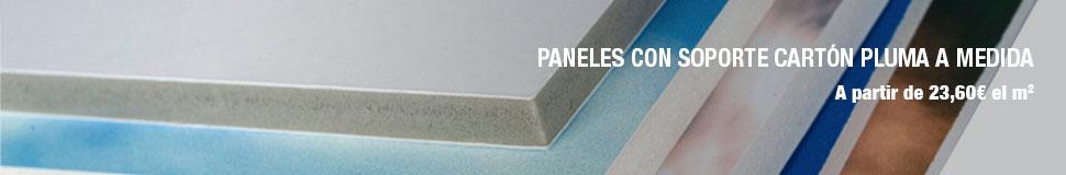 Panel carton pluma